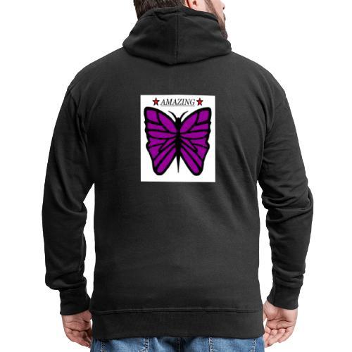Motiv fjäril, Butterfly amazing - Premium-Luvjacka herr