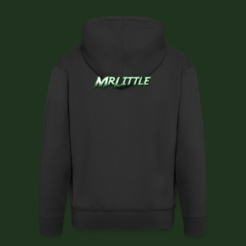 A simple text which fits on dark colours. - Men's Premium Hooded Jacket
