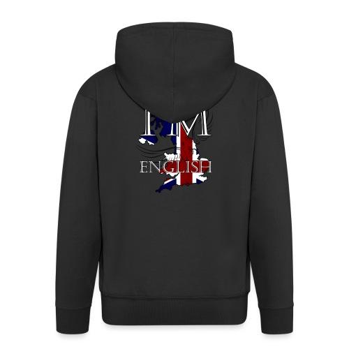I am English - Felpa con zip Premium da uomo