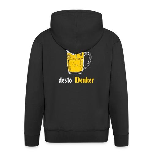 Dichter & Denker Bierkrug - Bierphilosoph - Männer Premium Kapuzenjacke