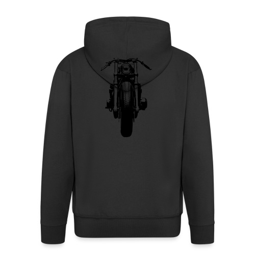 Motorcycle Front - Men's Premium Hooded Jacket