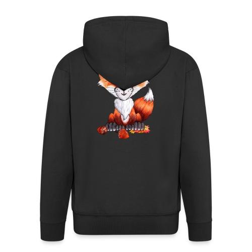 llwynogyn - a little red fox - Herre premium hættejakke