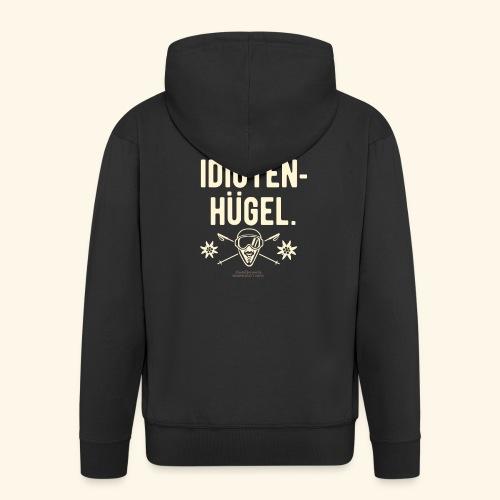 Apres Ski T Shirt Design Idiotenhügel - Männer Premium Kapuzenjacke