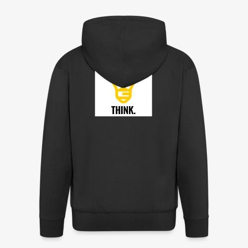 THINK - Felpa con zip Premium da uomo