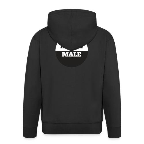 Alpha Male - Miesten premium vetoketjullinen huppari