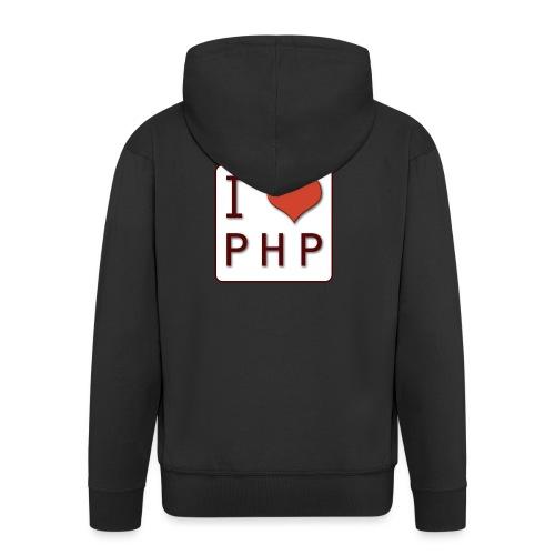 I LOVE PHP - Mannenjack Premium met capuchon