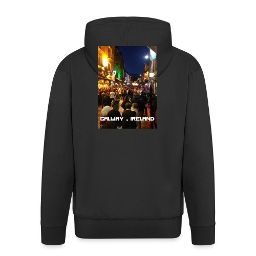 GALWAY IRELAND SHOP STREET - Men's Premium Hooded Jacket