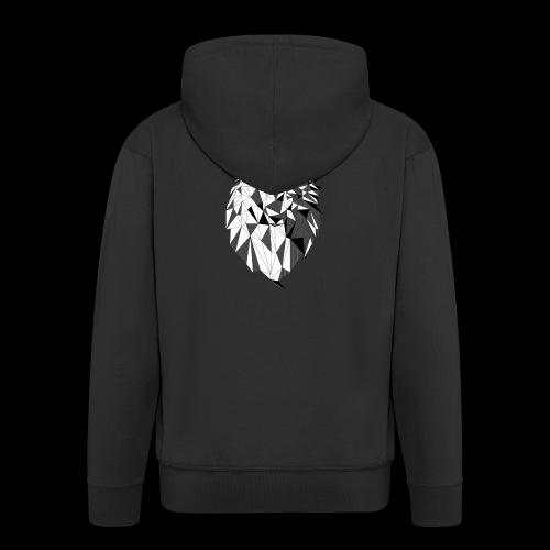 Polygoon wolf - Mannenjack Premium met capuchon