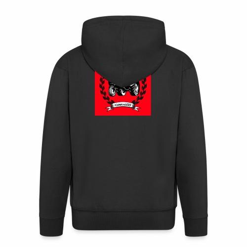 KonradSB czerwony - Rozpinana bluza męska z kapturem Premium