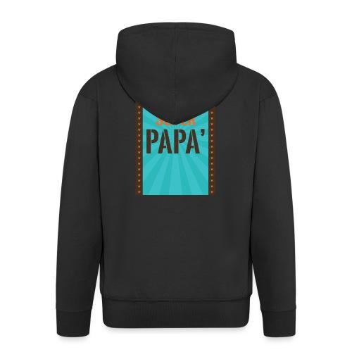 SUPER PAPà - Felpa con zip Premium da uomo