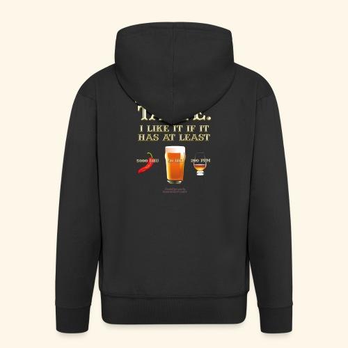 Whisky, Chili, Bier - Männer Premium Kapuzenjacke