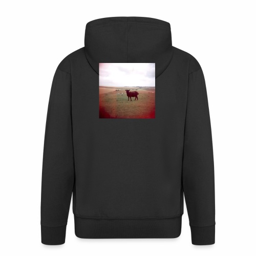 Original Artist design * Black Sheep - Men's Premium Hooded Jacket