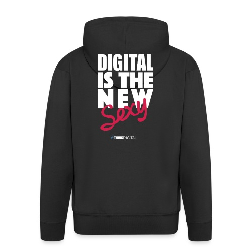 DIGITAL is the New Sexy - Felpa con zip Premium da uomo
