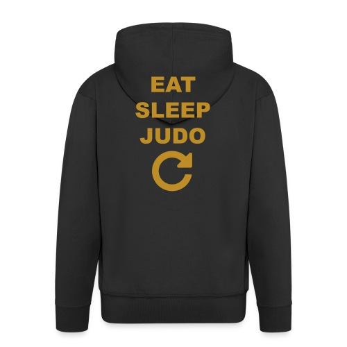 Eat sleep Judo repeat - Rozpinana bluza męska z kapturem Premium