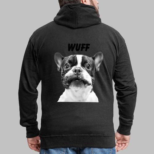 Wuff - Hundeblick - Hundemotiv Hundekopf - Männer Premium Kapuzenjacke