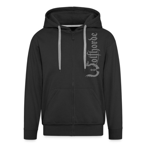 wolfhorde vector black - Men's Premium Hooded Jacket