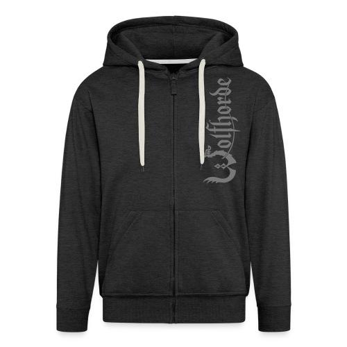 wolfhorde vector black - Men's Premium Hooded Jacket