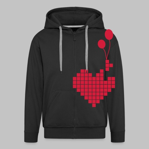 heart and balloons - Men's Premium Hooded Jacket