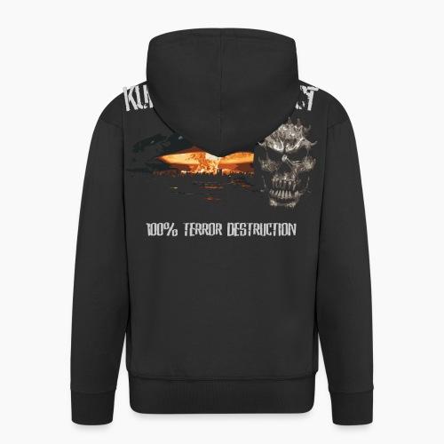 Kurwastyle Project - 100% Terror Destruction - Men's Premium Hooded Jacket
