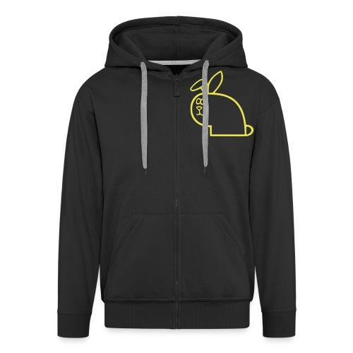 vk logo gul uten skrift - Premium Hettejakke for menn