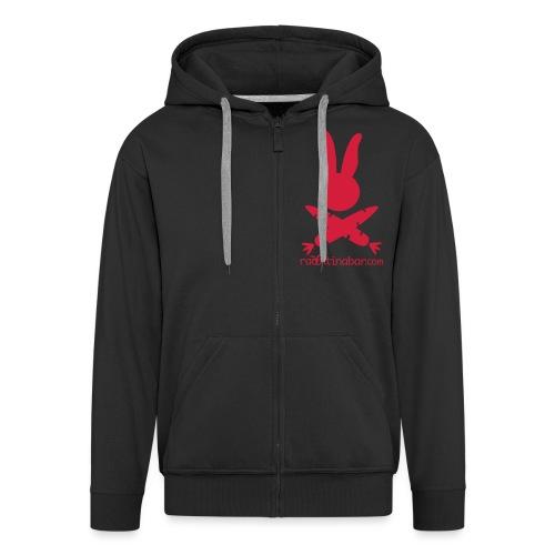 LogoKurvenHaseSchrift - Men's Premium Hooded Jacket
