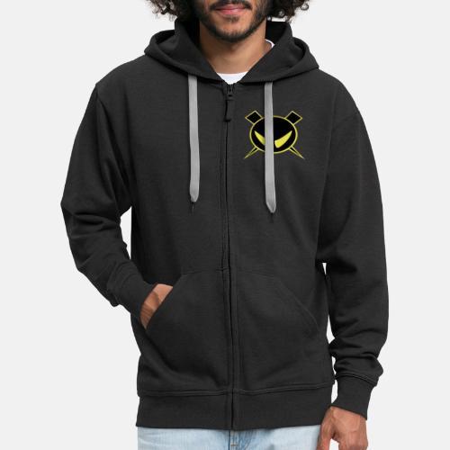 Pienempi logo Muista vaihtaa väri mustaksi - Miesten premium vetoketjullinen huppari
