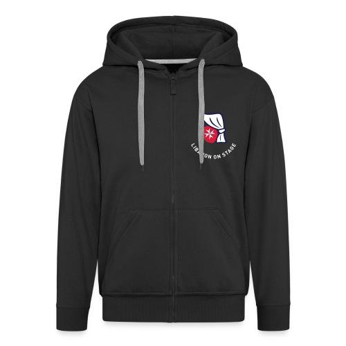 los-logo-grauweiss - Männer Premium Kapuzenjacke