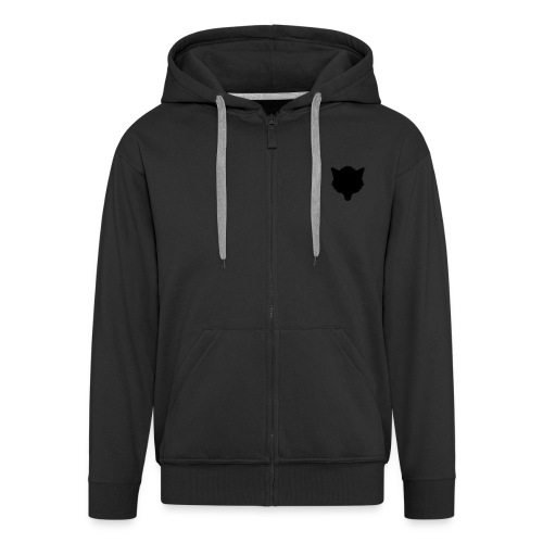 Logo Silhouette - Men's Premium Hooded Jacket