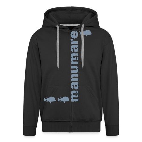 manumare_3_fische_in_grau - Männer Premium Kapuzenjacke