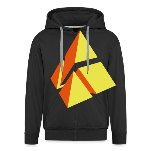polymake Logo (2-farbig) - Men's Premium Hooded Jacket