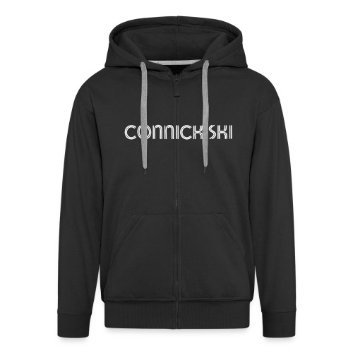 connick ski text - Men's Premium Hooded Jacket