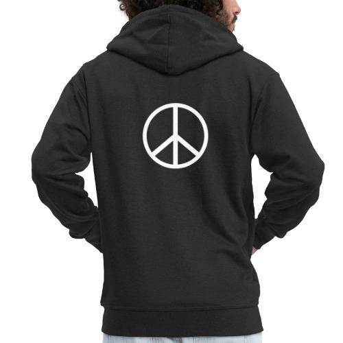 Símbolo de la paz blanco - Chaqueta con capucha premium hombre