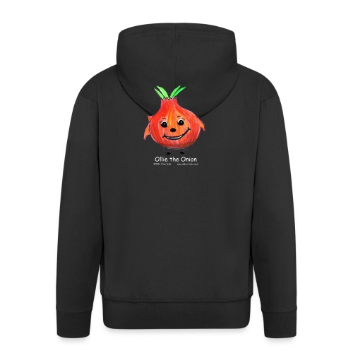 mens black T-shirt Ollie the Onion - Men's Premium Hooded Jacket