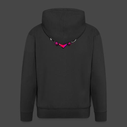 Logo and name - Men's Premium Hooded Jacket