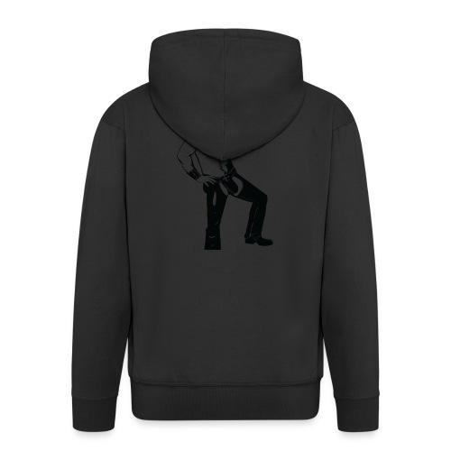 Grrr leather bear - Veste à capuche Premium Homme