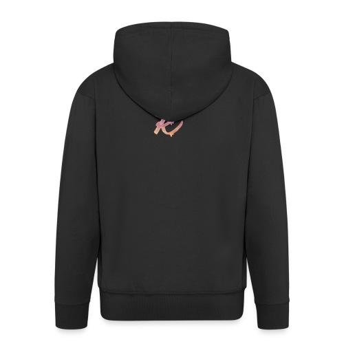 K Logo - Men's Premium Hooded Jacket