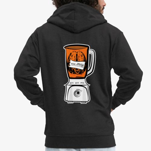 Hirn in Mixer neon orange - Männer Premium Kapuzenjacke