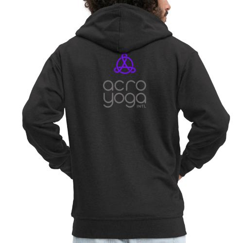 AcroYoga International Logo - Men's Premium Hooded Jacket