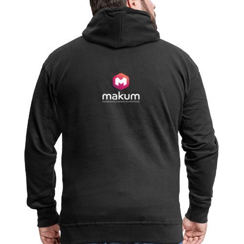MAKUM Logo ja teksti - Miesten premium vetoketjullinen huppari