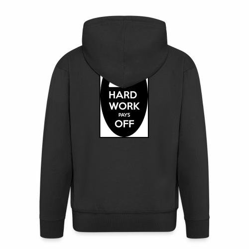 hard work pays off 2 cup.jpg - Men's Premium Hooded Jacket