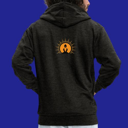 Guramylyfe logo no text black - Men's Premium Hooded Jacket