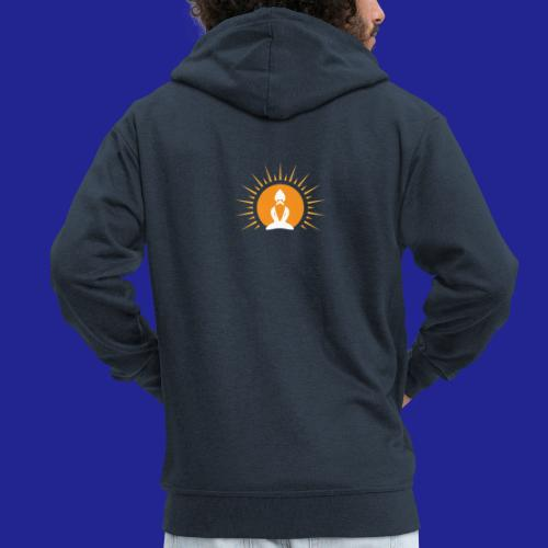 Guramylyfe logo white no text - Men's Premium Hooded Jacket