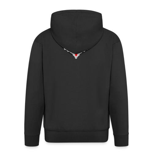Miłość Biking - Rozpinana bluza męska z kapturem Premium