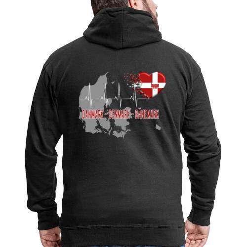 Dänemark Denmark Danmark Hygge Herzschlag EKG - Männer Premium Kapuzenjacke