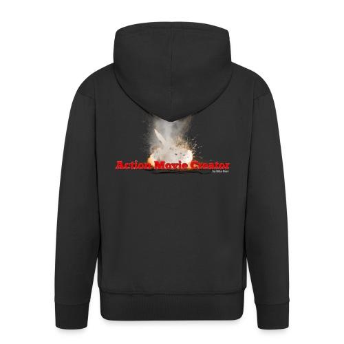 UFO2 png - Men's Premium Hooded Jacket