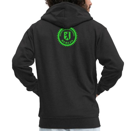 Logo klein ESU transp Green - Männer Premium Kapuzenjacke