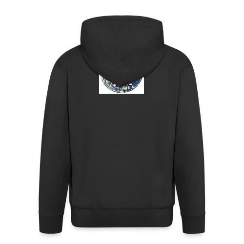 THEME PARK JAKE LOGO - Men's Premium Hooded Jacket