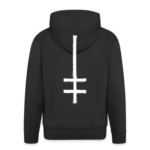 symbol cross upside down 1 - Männer Premium Kapuzenjacke