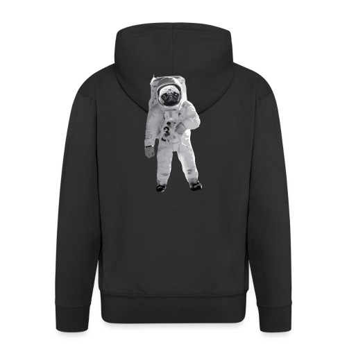 Space-Mops Astronaut Hund - Männer Premium Kapuzenjacke