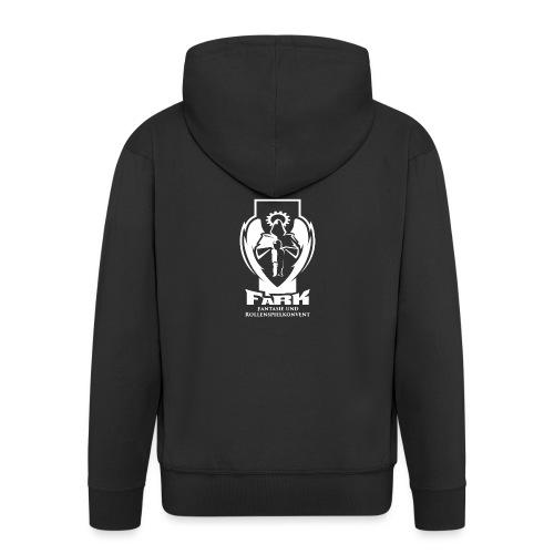fark_logo_outline_white - Männer Premium Kapuzenjacke